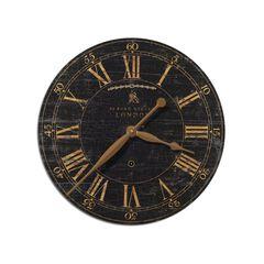 Bond Street 18' Black Wall Clock,