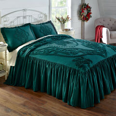 Madison Flounce Chenille Bedspread, EVERGREEN