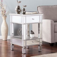 Wedlyn Mirrored Side Table,