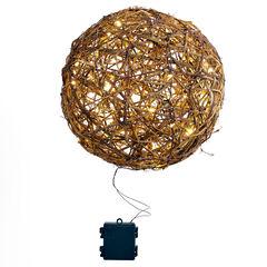 "14"" Hanging LED Ball,"