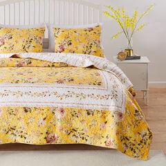 Finley Yellow Quilt Set,