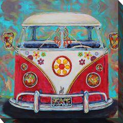 Hippie Van Outdoor Wall Art,