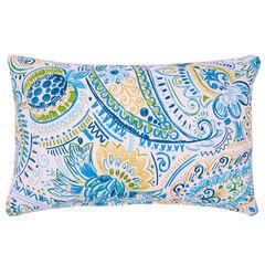 """20"""" x 13"""" Lumbar Pillow, PAISLEY DOODLE BLUE"""