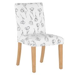 Contoured Tulips Dining Chair, WHITE