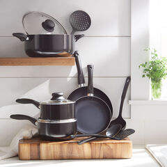 12-Pc. Aluminum Cookware Set with Nylon Tools,