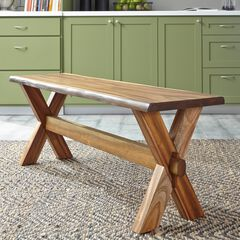 Forest Retreat Trestle Bench by Home Styles,