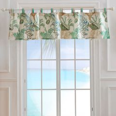 Atlantis Jade Window Valance by Barefoot Bungalow,