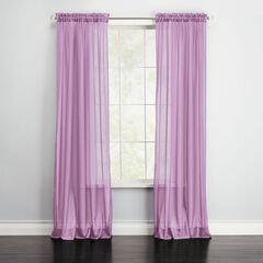BH Studio Sheer Voile Rod-Pocket Panel Pair, ORCHID