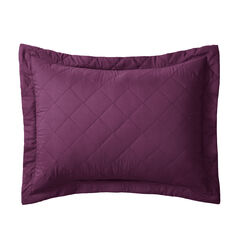BH Studio Reversible Quilted Sham, PLUM DUSTY LAVENDER