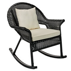Roma All-Weather Rocking Chair, BLACK
