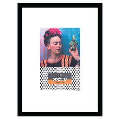 Cohiba Frida Kahlo - Blue / White - 14x18 Framed Print,
