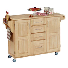 Large Natural Finish Create a Cart with Wood Top ,