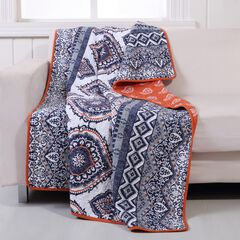 Greenland Home Fashions Medina Quilted Throw Blanket,