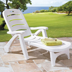 Resin Folding Lounger,