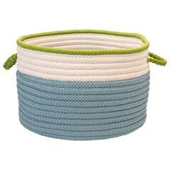 Cali Stripe Blue Splash Basket,