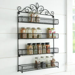 4-Tier Spice Rack, BLACK