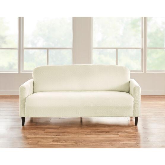 BH STUDIO BASKETWEAVE STRETCH Sofa SLIPCOVER,