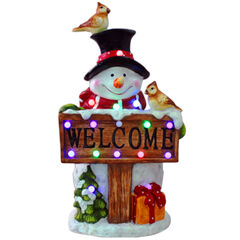 Musical Snowman Welcome Sign,