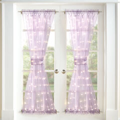 "72"" Pre-Lit Door Panel with Tiebacks, PURPLE"