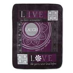 Printed Oversized Throw, LAUGH