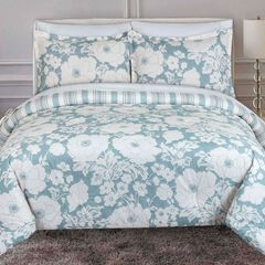 Chambray Floral Comforter Set,