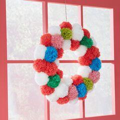 Pom Pom Wreath,