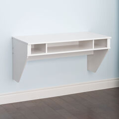 Minimal Tri-Cubby Floating Desk,
