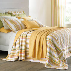 Florence Oversized Bedspread, DANDELION STRIPE