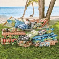 Tufted Wicker Chair Cushion,