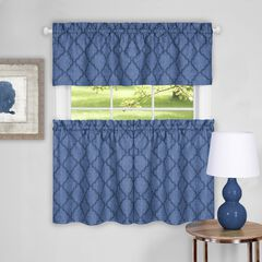 Colby Window Curtain Tier Pair and Valance Set,