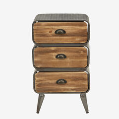 Urban Loft 3 Rounded Drawer Chest,