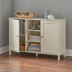 Adelaide 2-Door Cabinet with Shelves, WHISPER WHITE