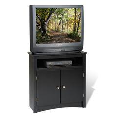 Tall Corner TV Cabinet, Black,