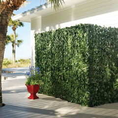 "78""H Faux Greenery Privacy Screen,"