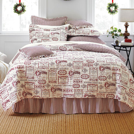 Vintage Christmas 4-Pc. Quilt Set,