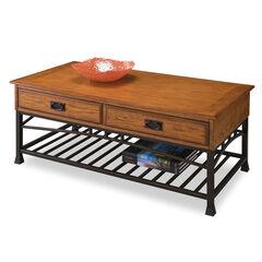 Modern Craftsman Distressed Oak Coffee Table,