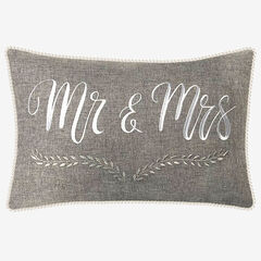 """Mr & Mrs"" Decorative Pillow,"