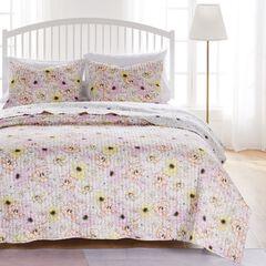 Misty Bloom Quilt and Pillow Sham Set,