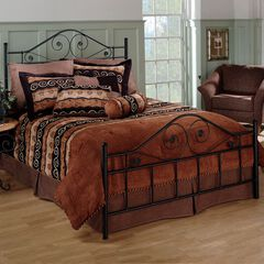 """Full Bed with Bed Frame, 76""""Lx54½""""Wx51""""H,"""