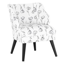 Contoured Tulips Modern Chair,