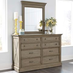Mountain Lodge Gray Dresser & Mirror,