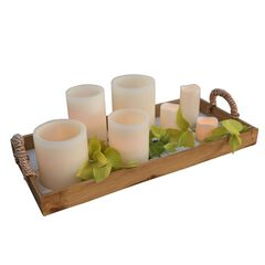 5'Diam. x 8'H Battery Operated LED Candle ,