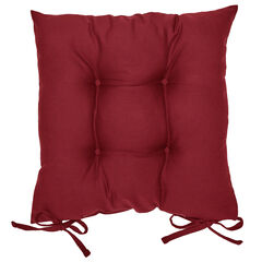 2-Pack Canvas Seat Cushions, BURGUNDY