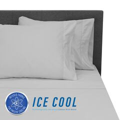 SensorPEDIC Ice Cool 400 Thread Count Cotton-Rich Grey Sheet Set,