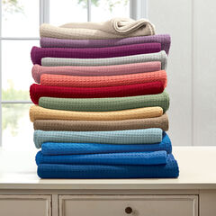 BH Studio Primrose Cotton Blanket, CORAL