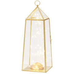 Medium Pre-Lit Glass Lantern,