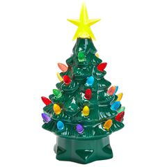 nostalgic ceramic pre lit tree - Pre Decorated Christmas Trees Delivered