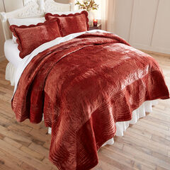 Velvet Embroidered Quilt,