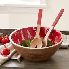 Christmas Enamel Serving Utensils & Bowl,