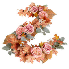Blush Harvest Garland, PINK
